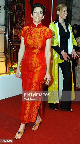 Socialite Ghisllane Maxwell attends Cartier's Le Baiser du Dragon honoring New Yorkers for Children May 6 2003 at the Cartier Mansion in New York City