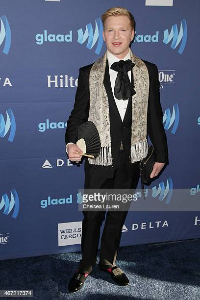 Socialite Henry Conway arrives at the 26th annual GLAAD media awards at The Beverly Hilton Hotel on March 21 2015 in Beverly Hills California