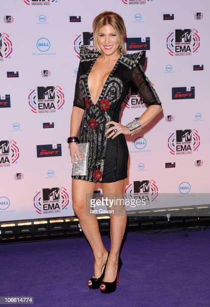 Socialite Hofit Golan attends the MTV Europe Awards 2010 at the La Caja Magica on November 7, 2010 in Madrid, Spain.