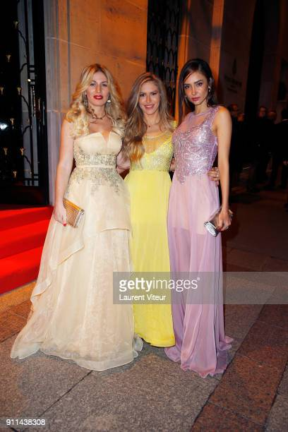 Socialite Hofit Golan Blogger Maja Malnar and Actress Patricia Contreras arrive at the 41st 'The Best' Award Ceremony as part of Paris Fashion Week...