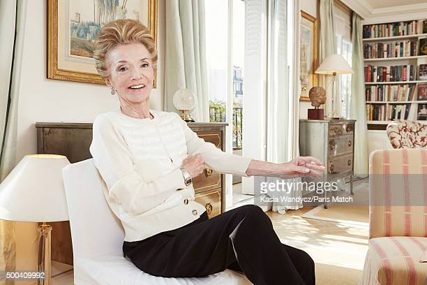 Socialite, interior decorator, former actress and sister of Jacqueline Kennedy Onassis, Lee Radziwill is photographed at home for Paris Match on...