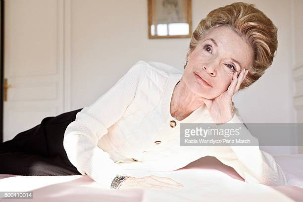 Socialite interior decorator former actress and sister of Jacqueline Kennedy Onassis Lee Radziwill is photographed at home for Paris Match on October...