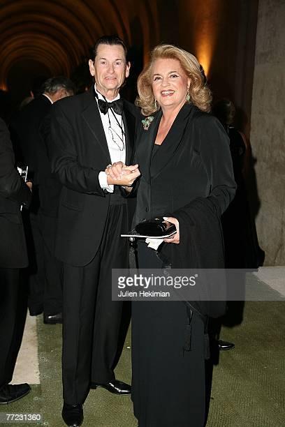 Socialite Ira von Furstenberg and designer JeanLouis Scherrer attend the Fondation Pour L'Enfance Ball at the Palais de Versailles October 8 2007 in...