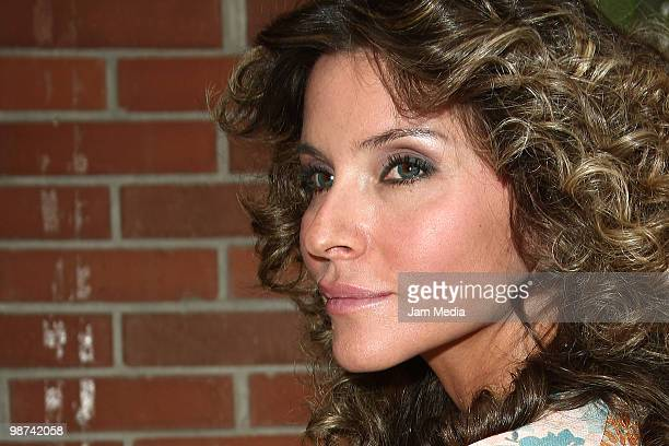 Socialite Isabella Camil poses for a photo during the recording of the video Mexico In Our Hands at Estudio 5 de Mayo on April 28 2010 in Mexico City...