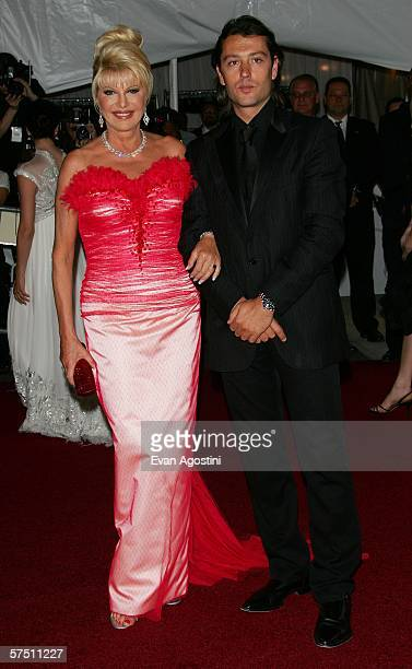 Socialite Ivana Trump and her boyfriend Rossano Rubicondi attends the Metropolitan Museum of Art Costume Institute Benefit Gala Anglomania at the...
