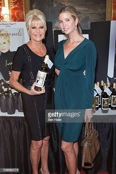 Socialite Ivana Trump and Ivanka Trump attend the Ivana Living Legend Wine Collection launch at Ten East 64th Street on October 18 2011 in New York...
