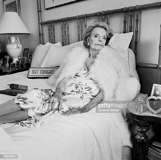Socialite Janet de Cordova is photographed for Vanity Fair Magazine on February 26, 2009 in the home of Gracie Covarrubias, her housekeeper in San...