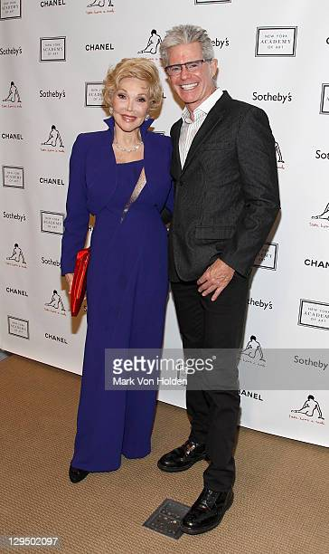 Socialite Joanne Herring and Bobby Hernreich attend The New York Academy of Art's 20th Annual Take Home a Nude benefit at Sotheby's on October 17...