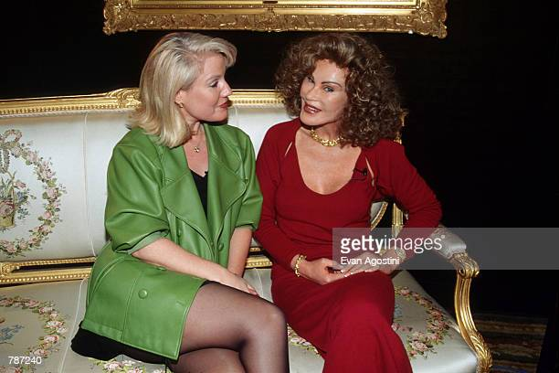 Socialite Jocelyne Wildenstein poses for a picture with interviewer / personality Daphne Barak February 10 1999 in New York City Wildenstein is the...