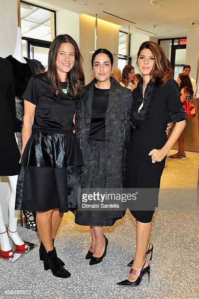 Socialite Katherine Ross designer Stephanie Danan and actress Marisa Tomei attend a private luncheon in honor of Co Designers Stephanie Danan and...