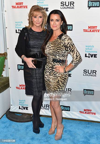 Socialite Kathy Hilton and TV personality Kyle Richards arrive to Bravo Media's celebration of the book release of Andy Cohen's Most Talkative...