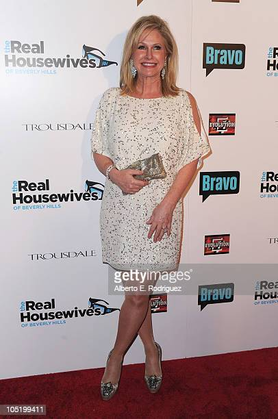 Socialite Kathy Hilton arrives at Bravo's The Real Housewives of Beverly Hills series party on October 11 2010 in West Hollywood California