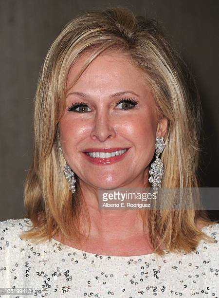 Socialite Kathy Hilton arrives at Bravo's 'The Real Housewives of Beverly Hills' series party on October 11 2010 in West Hollywood California