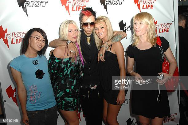 Socialite Kayley Gable and guests at Riot Grand Opening on July 10 2008 in West Hollywood California