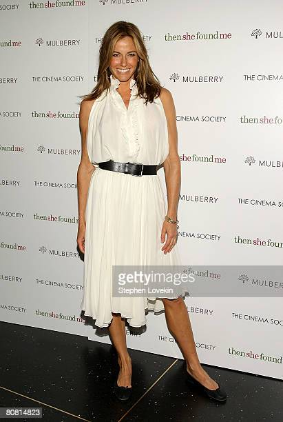 Socialite Kelly Bensimon attends a screening of Then She Found Me hosted by The Cinema Society and Mulberry at AMC Lincoln Square Theatre April 21...