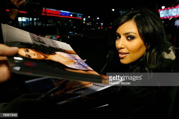 Socialite Kim Kardashian arrives to the 7th annual Hollywood Life Breakthrough of the Year Awards at the Music Box at the Fonda on December 9 2007 in...