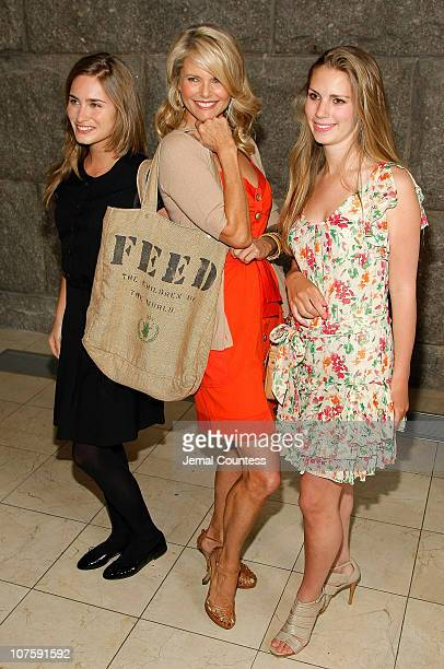 Socialite Lauren Bush Christie Brinkley Fashion Icon and Chairman of the Northeastern Organic Farming Association of New York and Hadley Nagel attend...