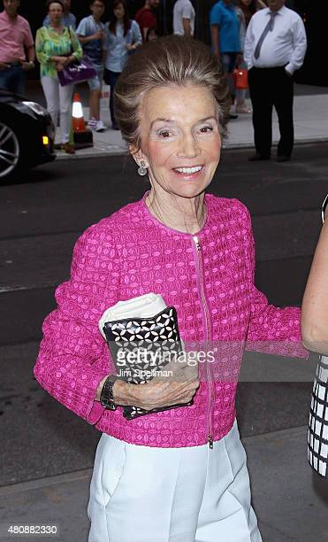 Socialite Lee Radziwill attends The Cinema Society with FIJI Water Metropolitan Capital Bank host a screening of Sony Pictures Classics' Irrational...