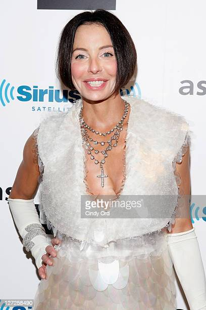Socialite Lisa Maria Falcone attends Dr Fredric Brandt's SiriusXM launch event at SiriusXM Studio on September 26 2011 in New York City