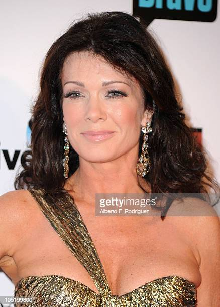 Socialite Lisa Vanderpump arrives at Bravo's 'The Real Housewives of Beverly Hills' series party on October 11 2010 in West Hollywood California