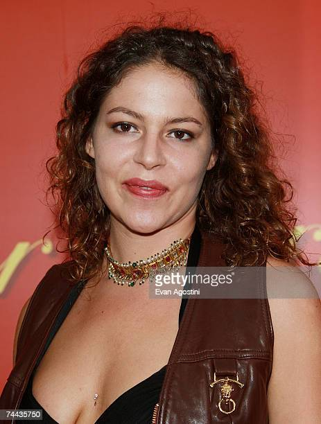 Socialite Lola Schnabel attends a cocktail party in celebration of The Cartier Charity Love Bracelet at The Cartier Mansion June 7 2007 in New York...