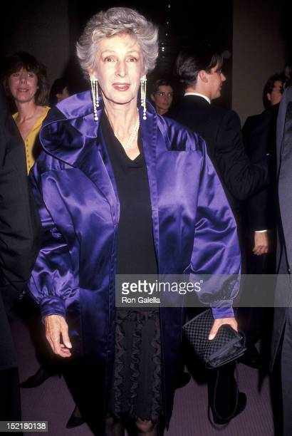 Socialite Marella Agnelli attends the Anima Mundi New York City Premiere on October 28 1991 at Alice Tully Hall Lincoln Center in New York City
