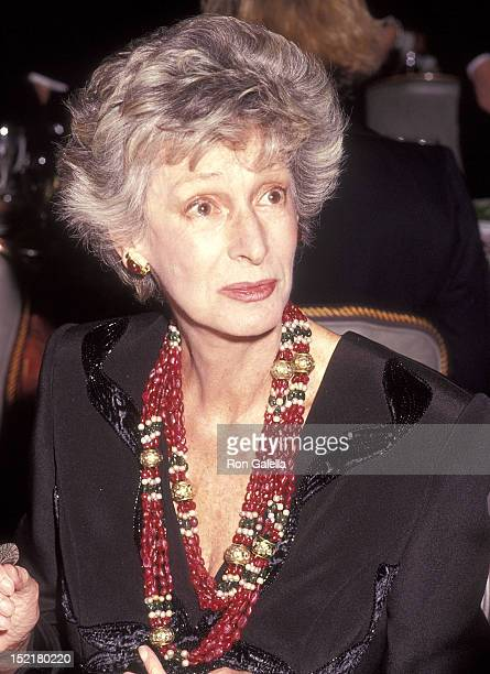 Socialite Marella Agnelli attends the Animal Medical Center's Third Annual Top Dog Gala on November 13, 1991 at the Pierre Hotel in New York City.