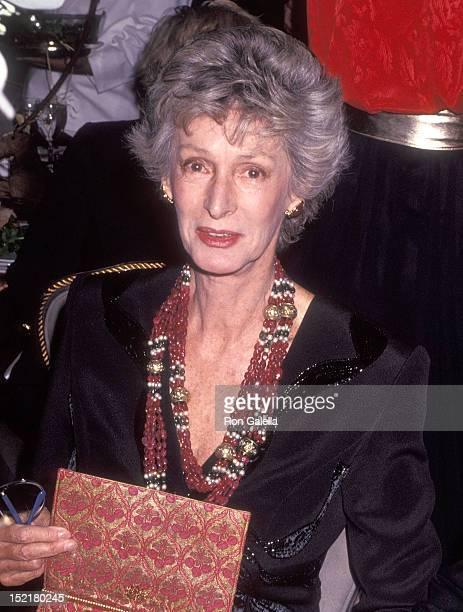 Socialite Marella Agnelli attends the Animal Medical Center's Third Annual Top Dog Gala on November 13 1991 at the Pierre Hotel in New York City