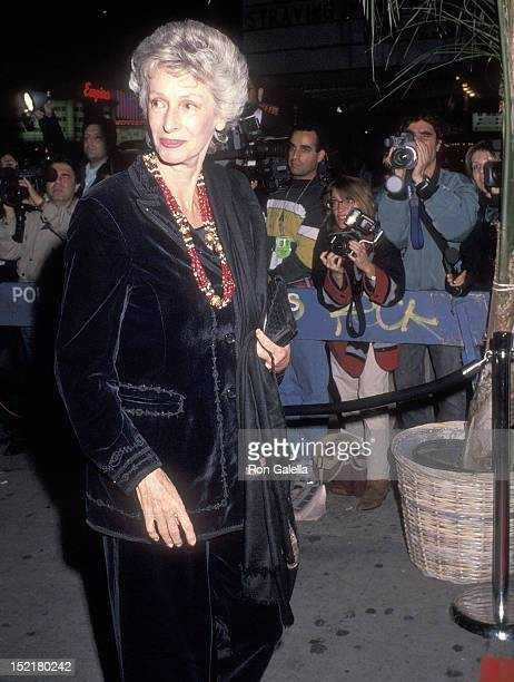 Socialite Marella Agnelli attends the New Yorker Celebrates Its First Ever All Fashion Issue on October 28 1994 at the Academy Theatre in New York...