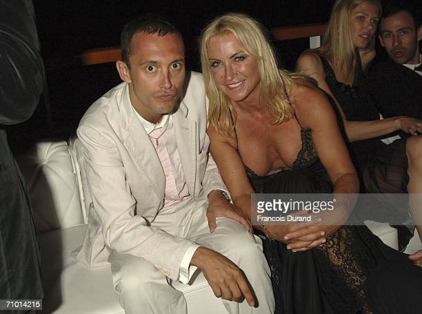 Socialite Meg Mathews and Dan Macmillan attend the annual De Grisogono party hosted by the Swissbased jewellery house at Hotel Du Cap on May 22 2006...