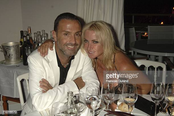 Socialite Meg Matthews and Mark Herman attend the annual De Grisogono party hosted by the Swissbased jewellery house at Hotel Du Cap on May 22 2006...