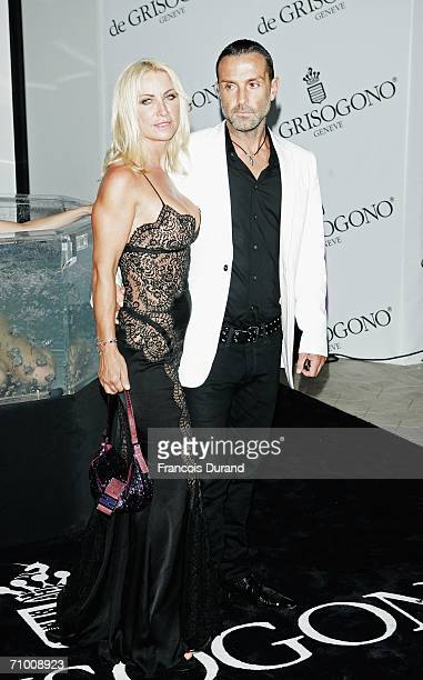 Socialite Meg Matthews and Mark Herman attend the De Grisogono party at Hotel Du Cap on May 22 2006 in Cap d'Antibes France