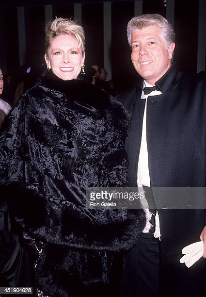 Socialite Michele Herbert and fashion designer Dennis Basso attend the American Ballet Theatre's 50th Anniversary Gala on January 14 1990 at the...