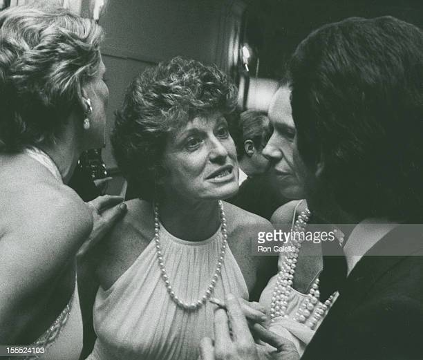 Socialite Nan Kempner, Marion Javits, Francoise de la Renta and designer Valentino attend Valentino Fashion Show Benefiting Special Olympics on June...