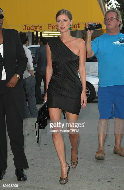 Socialite Nicky Hilton arrives at the MTV screening of Paris Not France documentary at The Majestic Crest on July 22 2009 in Los Angeles California