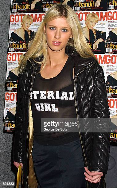 Socialite Nicky Hilton attends the Gotham Magazine one year anniversary party January 8 2002 at The Regent Ballroom in New York City