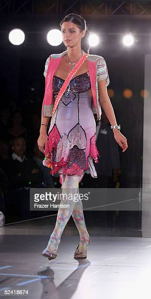 Socialite Nicky Hilton walks the runway during the Pret A PSP fashion show to celebrate the launch of the PlayStation handheld entertainment system...