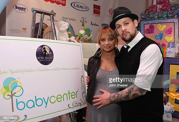 Socialite Nicole Richie and Musician Joel Madden at the Nicole Richie and John Madden Launch Children's Foundation Event press conference at the Los...