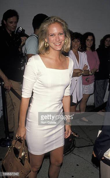 Socialite Nina Griscom attends the premiere of Women and Men on August 11 1990 at the East Hampton Cinema in East Hampton New York