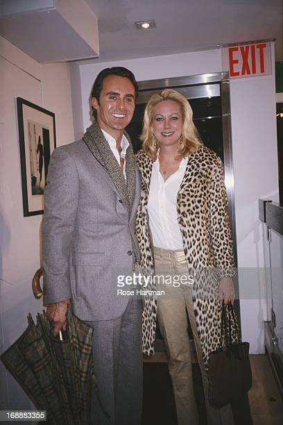 Socialite Nina Griscom with Anthony Todd at the Chelsea Gallery in New York City circa 2000