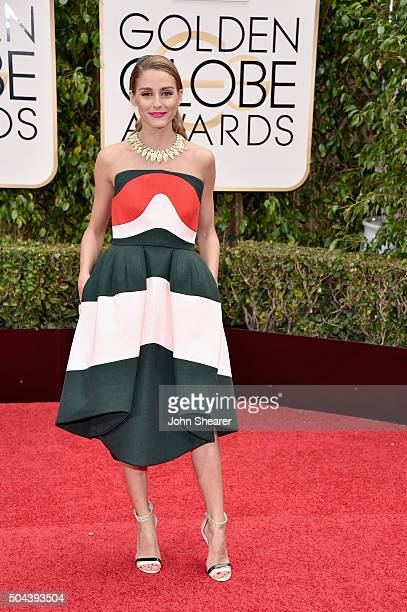 Socialite Olivia Palermo attends the 73rd Annual Golden Globe Awards held at the Beverly Hilton Hotel on January 10 2016 in Beverly Hills California