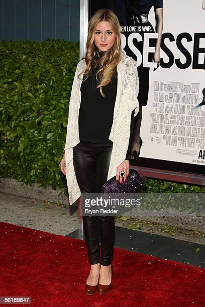 Socialite Olivia Palermo attends the Cinema Society and MCM screening of Obsessed at the School of Visual Arts on April 23 2009 in New York City