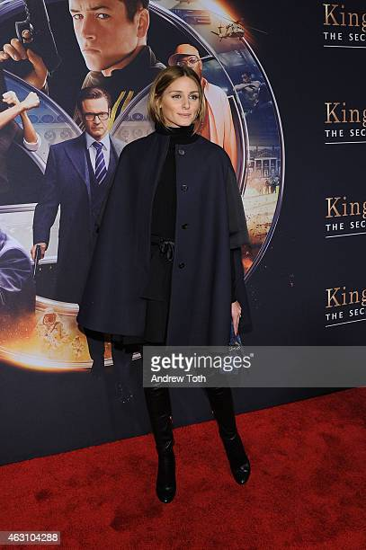 Socialite Olivia Palermo attends the 'Kingsman The Secret Service' New York premiere at SVA Theater on February 9 2015 in New York City