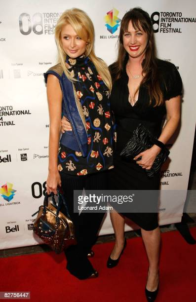 Socialite Paris Hilton and director Adria Petty arrive at the 'Paris Not France' film premiere held at Reyerson Theatre during the 2008 Toronto...