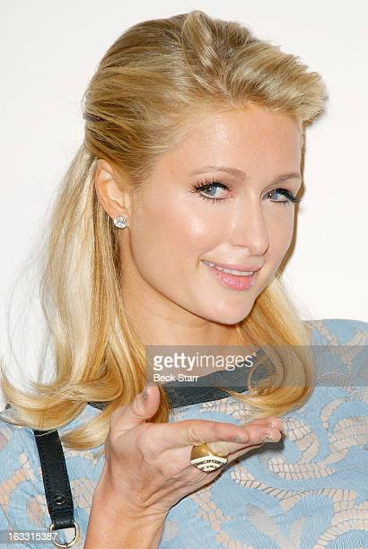 Socialite Paris Hilton arrives at OUT Magazine's celebration of LA fashion week with launch of Out Fashion presented by Lexus at Pacific Design...