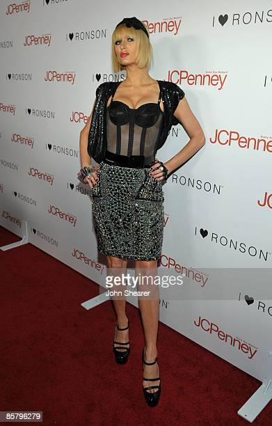 Socialite Paris Hilton arrives at the I Heart Ronson launch party presented by Charlotte Ronson and JCPenney held at Bar Marmont on April 3 2009 in...