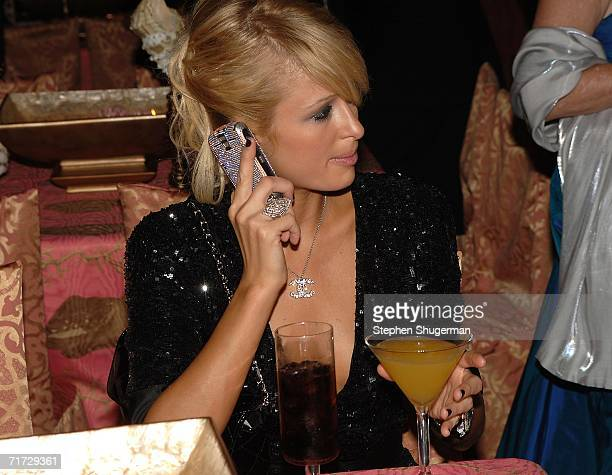 Socialite Paris Hilton attends the HBO Post Emmy Party held at The Plaza at the Pacific Design Center on August 27, 2006 in West Hollywood,...