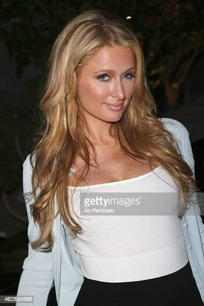 Socialite Paris Hilton attends Z Zegna GQ Celebrate The New Z Zegna Collection Hosted By Nick Jonas at Philymack Studios on February 5 2015 in West...