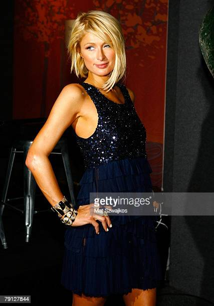 Socialite Paris Hilton poses at her private dinner party held at Turning Leaf's Leaf Lounge during the 2008 Sundance Film Festival on January 19 2008...