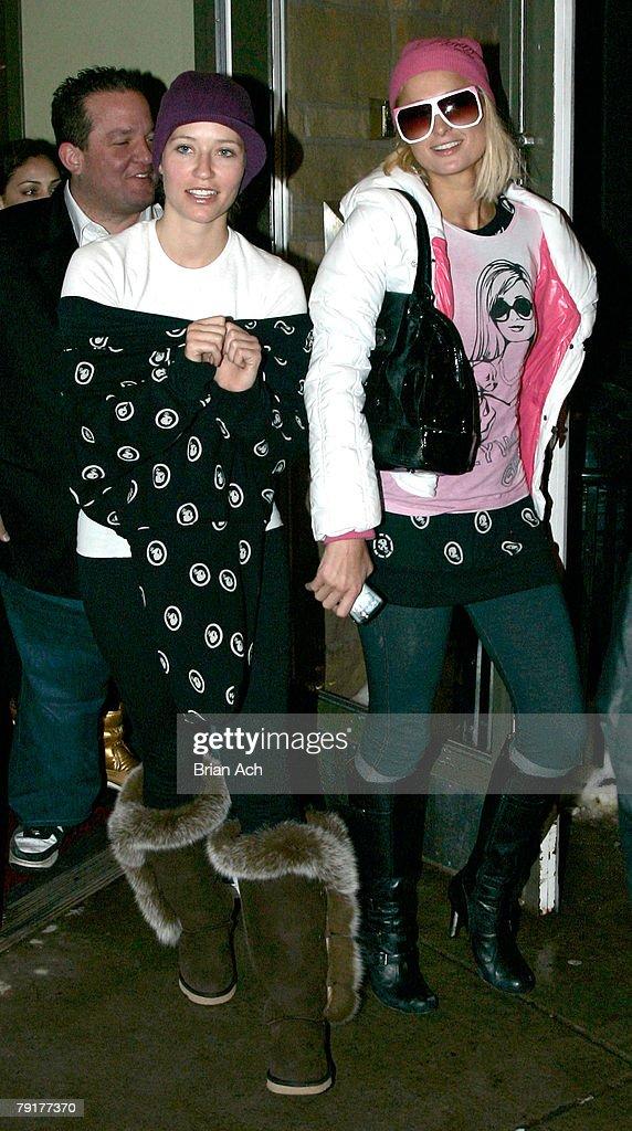 Socialite Paris Hilton seen around town at the 2008 Sundance Film Festival on January 20, 2008 in Park City, Utah.